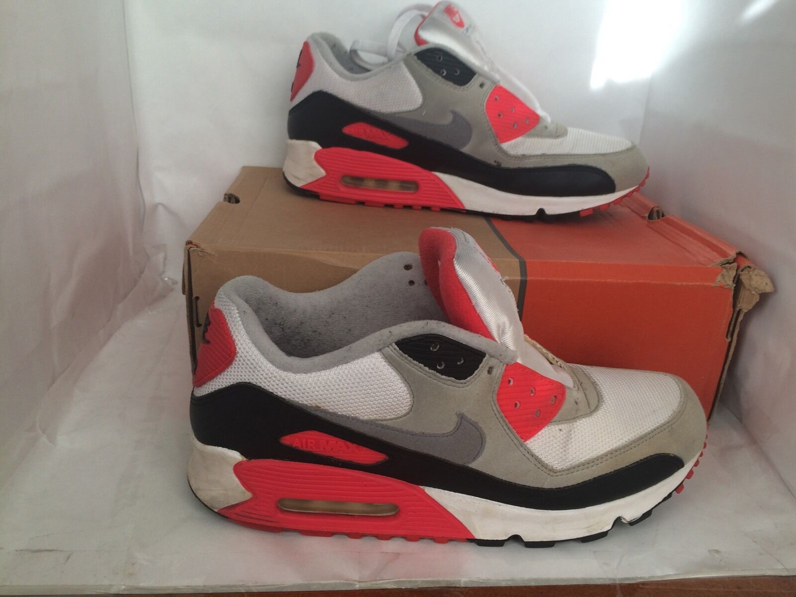 Nike Air Max 90 Infrared Size 9.5 History Of Air (HOA) Used Supreme