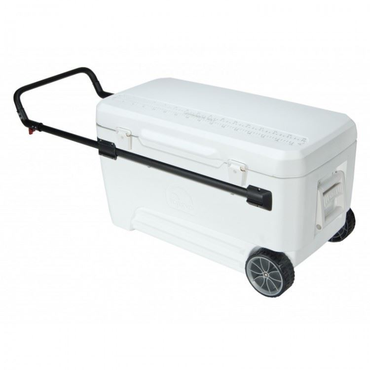 Igloo Glide Pro Roller 110 Qt Cooler White Ice Box Camping Motorhome Boat