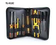 Travel 12 Piece Computer Tech PC Service/Repair Tool Kit, CablesOnline TL-K12C