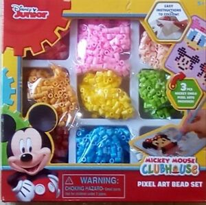Details About Disney Junior Mickey Mouse Clubhouse Pixel Art Fusion Bead Set Craft Minnie New