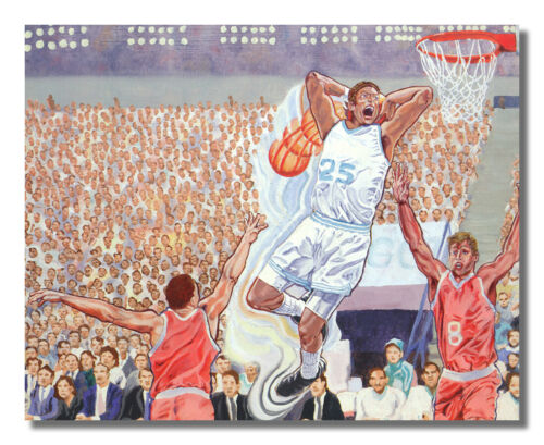 Basketball Challenge Slam Dunk Time is Here Wall Picture 8x10 Art Print
