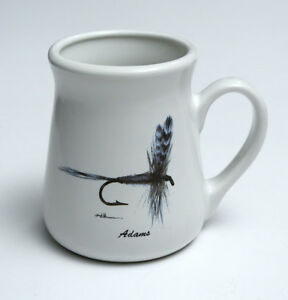 ANGLER's Expressions 1994 Adams Dry Fly Design Coffee Mug Cup 11 oz