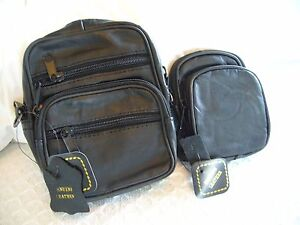 """DIGITAL CAMERA CASES GENUINE LEATHER """"2 IDEAL SIZES"""" W/ SHOULDER STRAP VERY SOFT"""