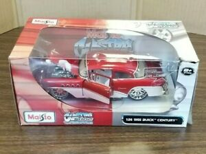 Maisto-Custom-Shop-1955-Red-Buick-Century-1-26-in-Scale-New-in-Package
