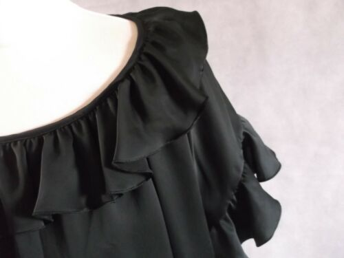 Stella Uk Black 40 8 Top Glossy 10 Oversized Ruffle Size Mccartney rgrwqxU