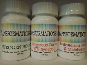 Details about MTF Transgender Transition Support Feminizer - E-Booster  /T-Blocker 3 part Kit