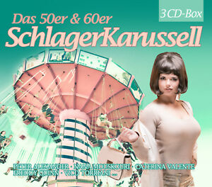 CD-Das-50er-amp-60er-Jahre-Schlager-Karussell-von-Various-Artists-3CDs
