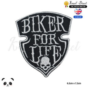 Bikers-For-Life-Bikers-Embroidered-Iron-On-Sew-On-Patch-Badge-For-Clothes-etc