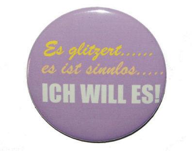Kühlschrankmagnet rund 50mm Magnet mit Spruch:Ich mag Menschen