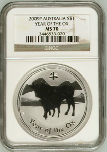 2009-1-oz-NGC-MS70-Silver-Australian-Year-of-the-Ox-Coin-Bullion-70-Australia