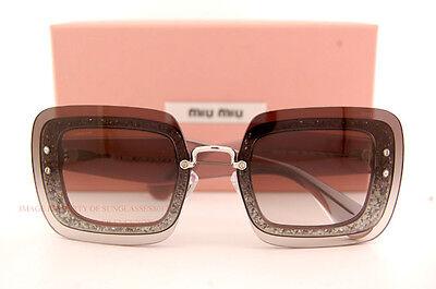 Sonnenbrillen & Zubehör Brandneu Miu Miu Sonnenbrille Mu 01r 01rs Ues0a7 Grau Glitzer Damen Hoher Standard In QualitäT Und Hygiene