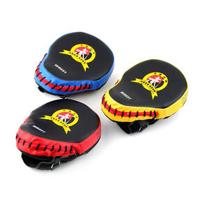MMA Target Boxing Mitt Focus Punch Pad Training Glove Karate Muay Thai Kick TE