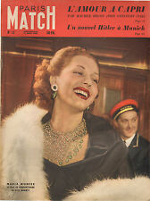 PARIS MATCH N°12 1949 hitler a munich maria montez ches maxim's