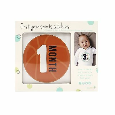 Brand New Tiny Ideas First Year Monthly Milestone Sports Baby Belly Stickers 698904961888 Ebay