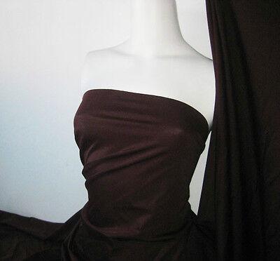 Dark maroon Lycra/Spandex 4 way stretch Finish Fabric