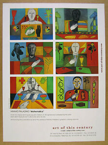 Details about 2001 Mimmo Paladino Mathematica Art of this Century vintage  print Ad