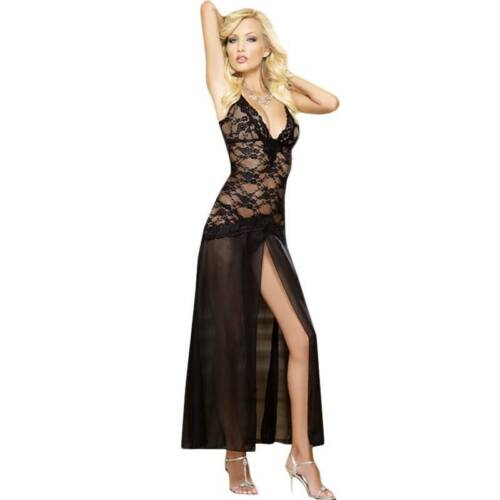 Details about  /Women Lingerie Glamour Babydoll Bodysuit Bra Set Dress Black Nightwear Sleepwear