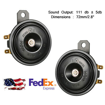 2x Car SUV Grille Mount Super Tone Compact Electronic Horn 111 db 12V For Toyota
