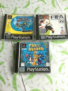 3-Sony-Playstation-Games-PS1-Ratto-ATTACCO-MICRO-maniaci-amp-FIFA-98-t18