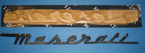 MASERATI  4200 COUPE  GRANSPORT REAR SCRIPT EMBLEM  ORIGINAL 340 mm x 33 mm