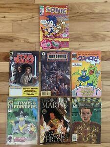 SONIC THE HEDGEHOG #3 COMIC Lot ARCHIE 1993 RARE HTF SEGA - Slimer 17 + 5 More