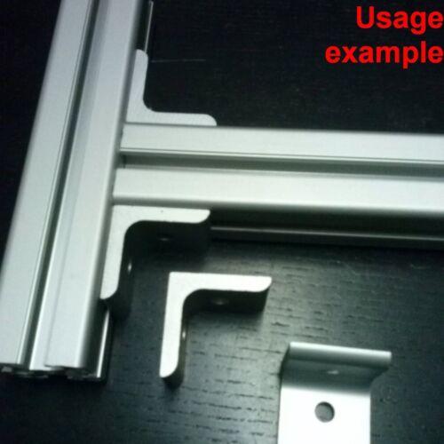 Aluminum T-slot 40x40 profile 90 deg angle join corner bracket, 8-set