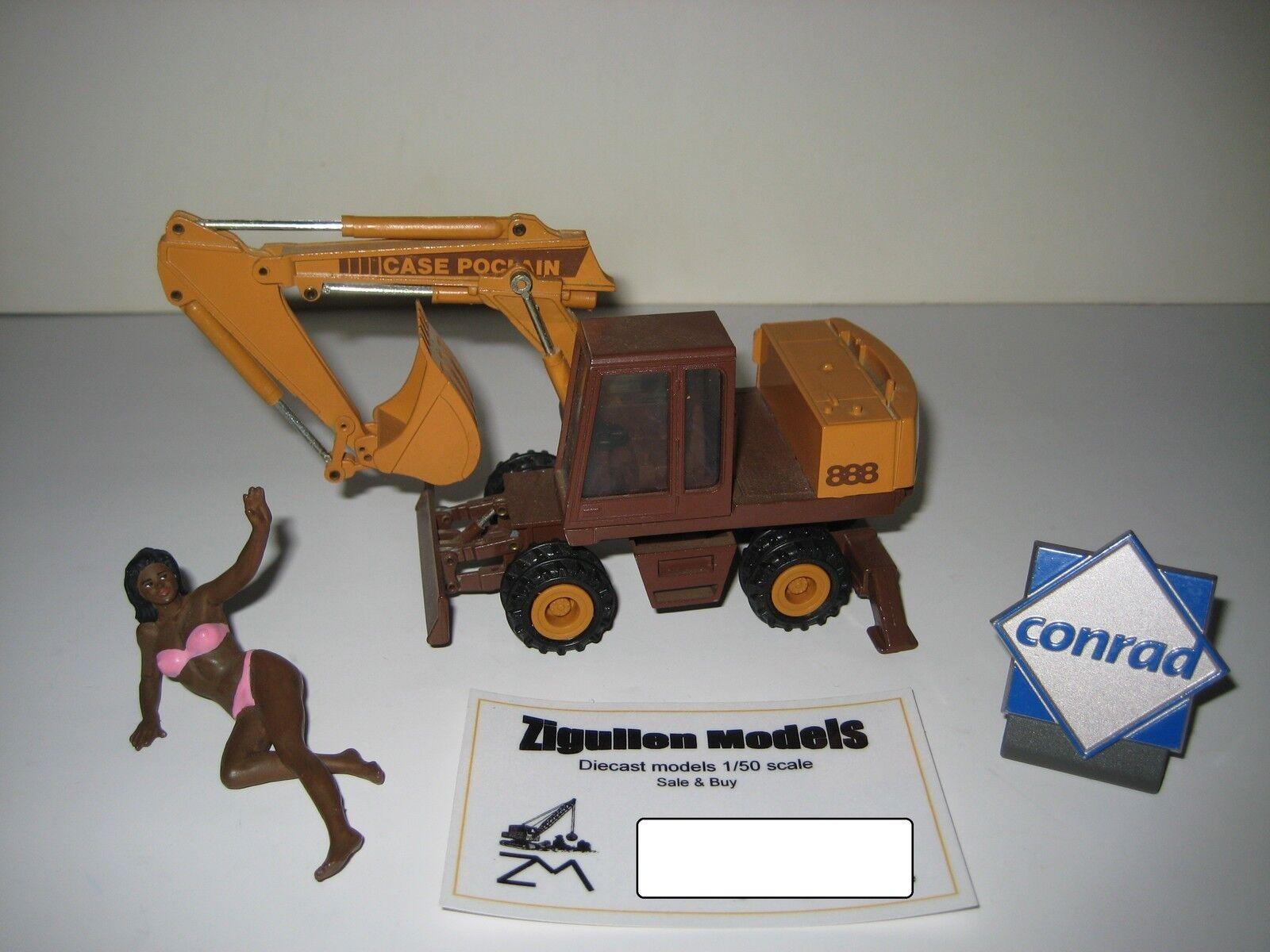 CASE POCLAIN 888 Excavateurs tieflöffel mobile  2893.3 CONRAD 1 50 RARE