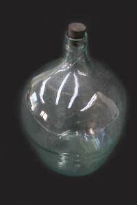 Antiguo-Decorativo-Globo-para-Vino-Damajuana-Vidrio-Old-Vintage-Botella