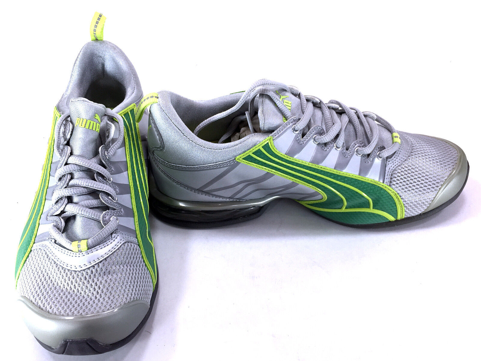 Puma Shoes Voltaic 5 Running Trainers Gray/Green Sneakers Womens 9