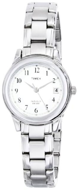 Timex Womens Porter Street Silver-Tone Stainless Steel Bracelet Watch