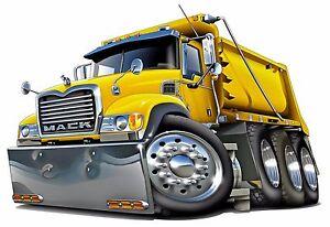 Image Is Loading Mack Dump Truck Sel Semi Trucks Riggs