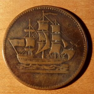 ships colonies and commerce Canadian token, PE 10-17, Lees 17