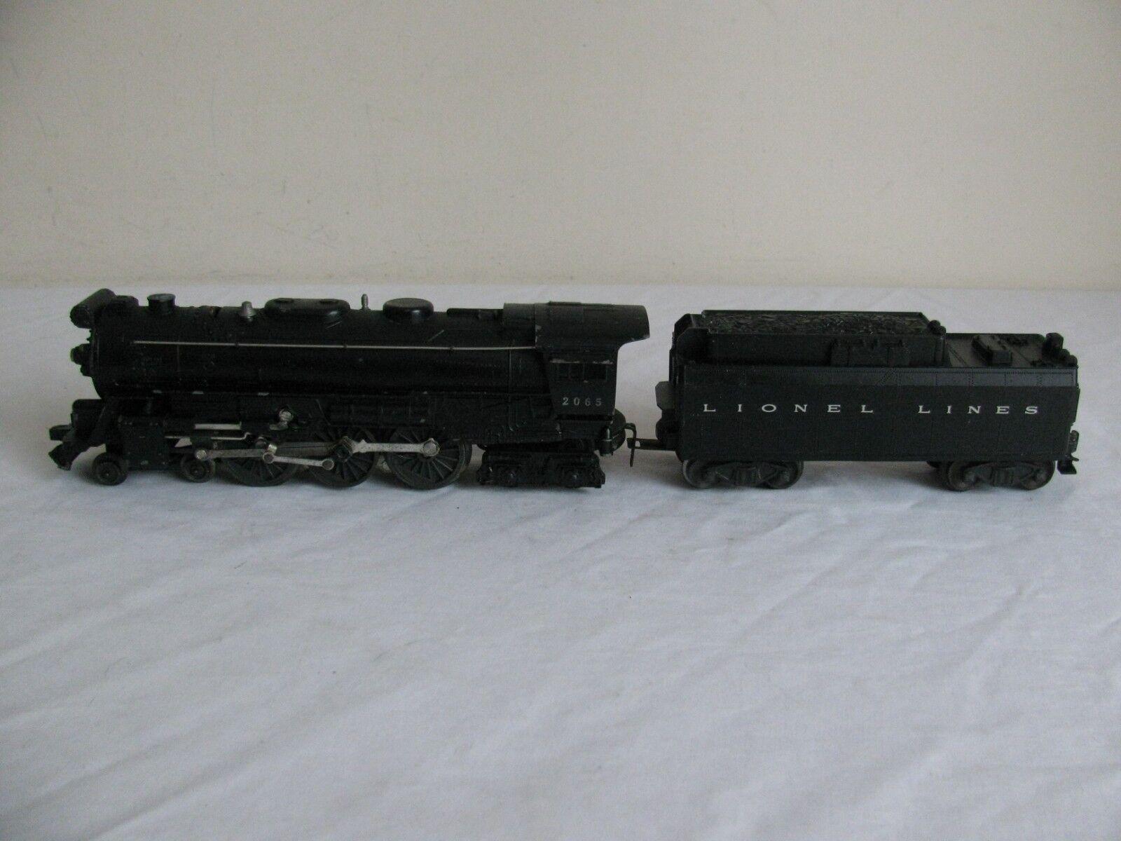 Lionel Trains 2065 Hudson 4-6-4 Steam Locomotive w  6026 Whistle Tender VG