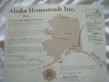 Alaska Homestead - one square foot of real estate