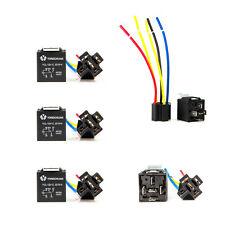 5pcs 12V 30/40 Amp SPDT Relay + Wire Harness Socket For Car Alarm Truck Release