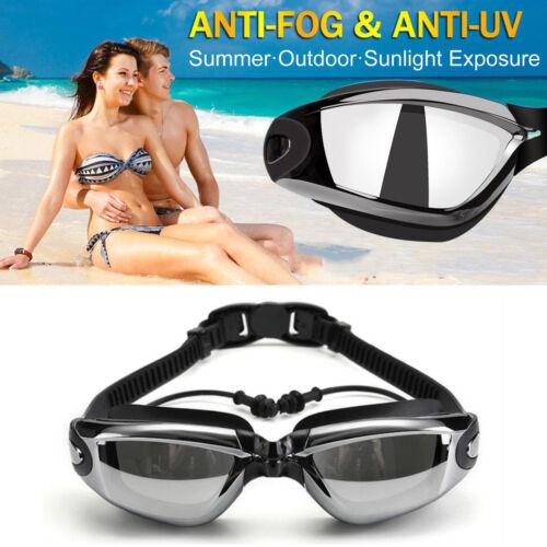 Lunettes de natation Bouchons d'oreille Anti-buée Protection UV gamins Hommes FC