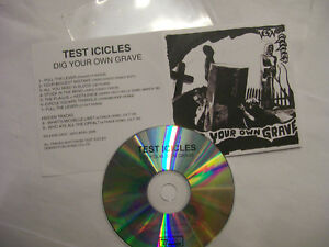 TEST-ICICLES-Dig-Your-Own-Grave-2006-UK-CD-PROMO-PVC-Sleeve-Indie-Rock