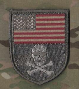 DAESH WHACKER MARSOC RAIDERS US AD VISORS SP OPS burdock PATCH: us Flag Skull