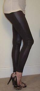 Leggings Effet Mouillé Insert Viscose Noir Tailles 34-46