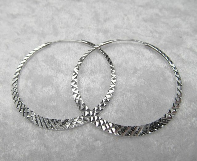 Creolen Design Ohrstecker Silber 925 er  38 mm