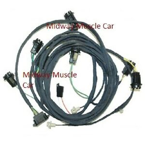 rear body tail light wiring harness 69 pontiac gto 1969 coupe judge 1968 GTO Wiring Harness image is loading rear body tail light wiring harness 69 pontiac