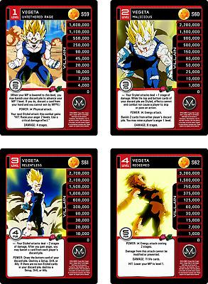 Hero and Villain Saga!! Dragon Ball Z DBZ Panini Tenshinhan Lvl 1-4!