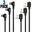 miniature 1 - 3Pack 90 Degree 6Ft USB Fast Charging Cable For iPhone 12 11 X 8 7 Charger Cord