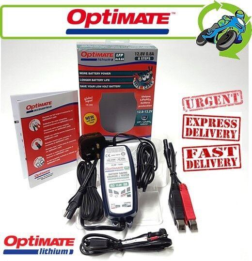 Nuevo OPTIMATE Litio 12.8V 0.8A Cargador De Batería Para LiFePO 4 baterías de motocicletas
