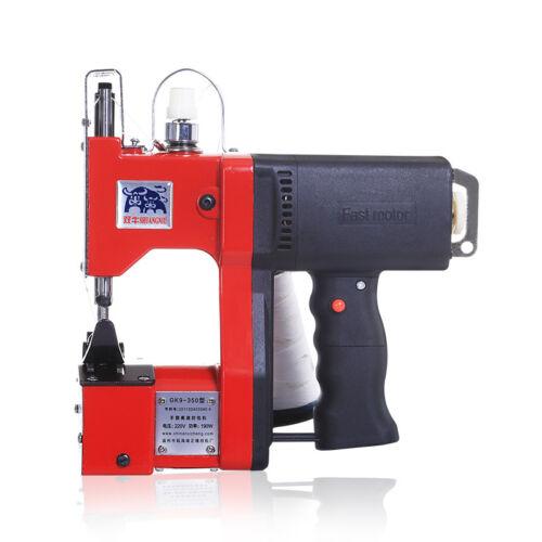 220V Manual Industrial Portable Bag Closer Bag Stitching Sewing Sealing Machine