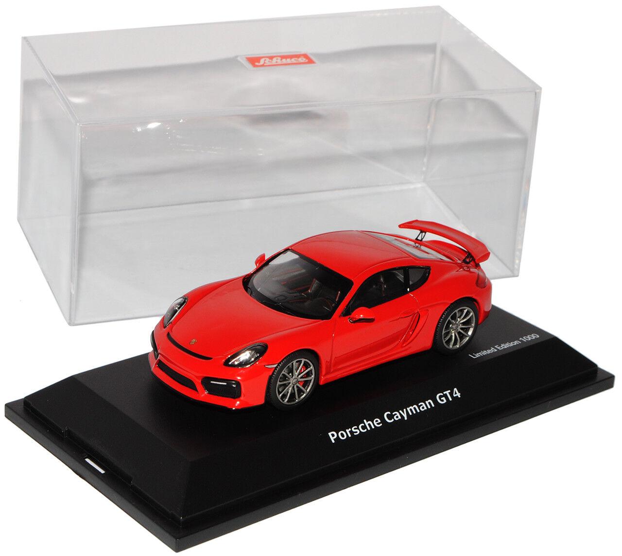 Porsche Cayman 981 GT4 Coupe Indisch Rot Ab Ab Ab 2015 1 43 Schuco Modell Auto mit o..  | Reichlich Und Pünktliche Lieferung  0af59c