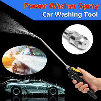18'' Power Pressure Washer Water Gun Pump Spray Nozzle Hose Wand Garden Car Tool