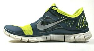 more photos 6be13 dd290 Details about Nike Free Run 3 Running Shoes Mens 9.5 Volt Yellow / Blue  510642-704, Rare!