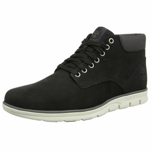Timberland Bradstreet Chukka Black Mens Nubuck Laceup Ankle Boots Trainers