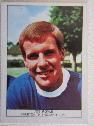 EF3 Nabisco 1970 Nabisco Ltd 1st y 2nd Tarjetas de fútbol de impresión